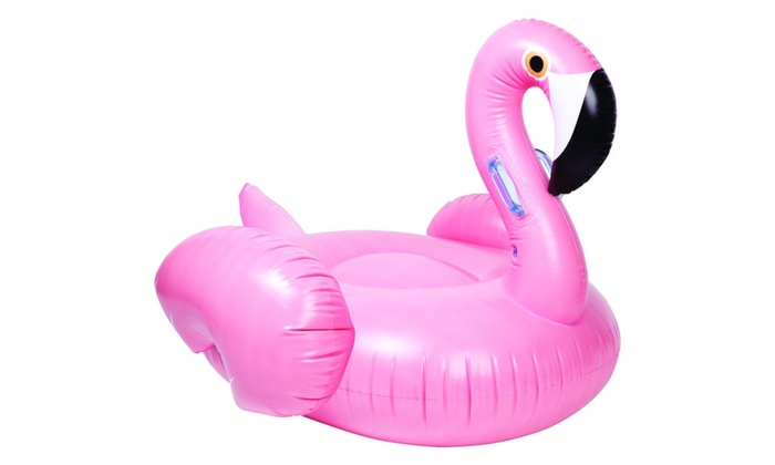 Pink Flamingo Inflatable Pool Float Swimming Ride On Toys ...