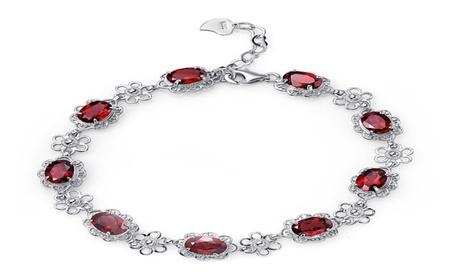 925 Sterling Silver Charm Amethyst Bracelet d578b4d5-44c8-43d6-b6c2-96003caf5efb