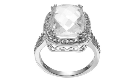Journee Collection Sterling Silver Crystal Quartz Ring 83a3dc22-9737-4bf9-9bef-bf80cd08e53c
