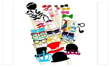BQD Photo Booth Props 60 piece DIY Kit for Wedding, Party or Birthday 101c7e60-75ce-4797-80a4-7cd20443391a