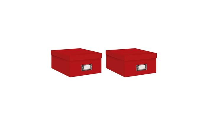 Pioneer Photo Albums Photo Storage Box, Bright Red   2 Pack