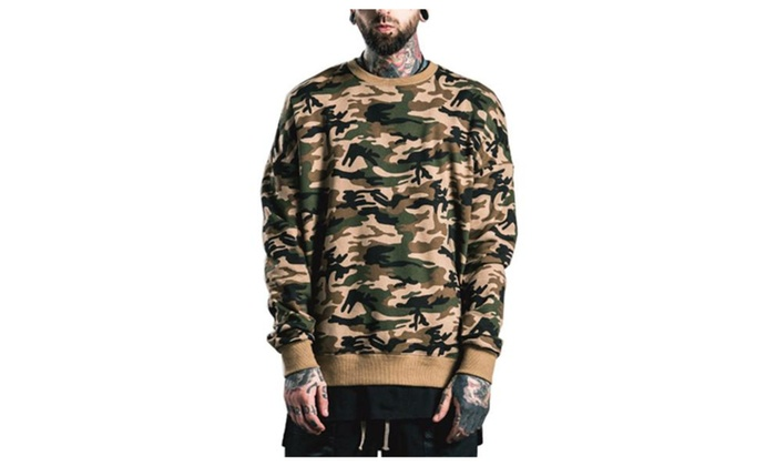 Men's Pullover Long Sleeve Graphic Regular Fit Sweatshirt