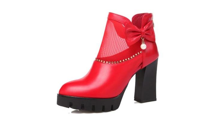 Women's Chunky Heel Simple Marten Boots