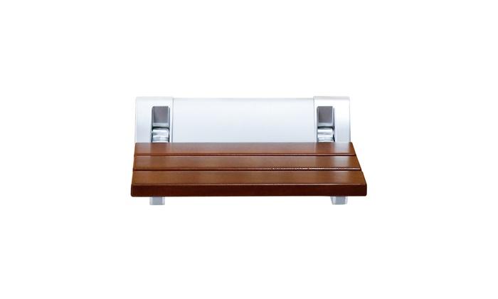 Marvelous Kinbor Folding Bath Seat Bench Shower Chair Wall Mount Solid Machost Co Dining Chair Design Ideas Machostcouk