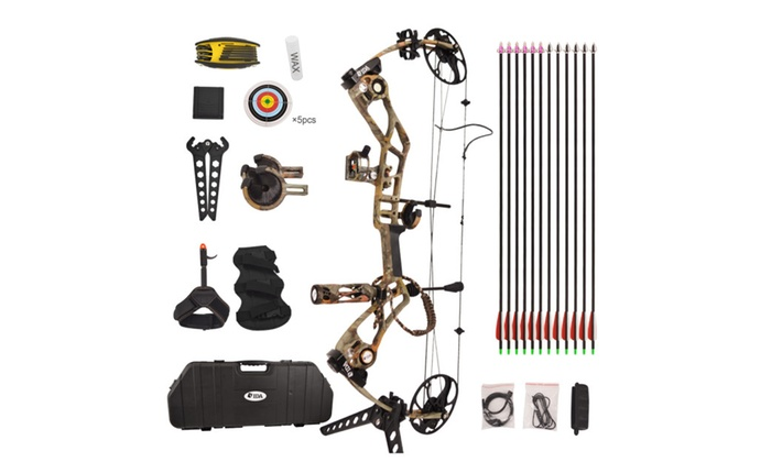 Camouflage Draw weight 15-70lbs IBO 320 FPS Tactical Compound Bow