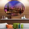 Brooklyn Bridge and Manhattan at Sunset' Disc Extra Large Metal Circle Wall Art