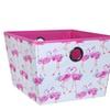 Laura Ashley Kids Large Grommet Storage Bin in Pretty Flamingo