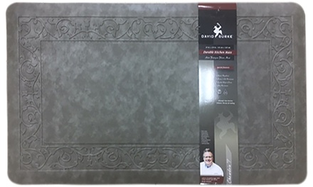 Borders Oversized Oil- and Stain-Resistant Anti-Fatigue Kitchen Mat