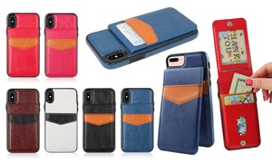 WalvoDesign Leatherette Wallet Pouch Case for iPhone Models