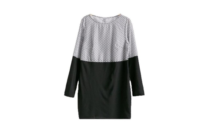 Women's Belted Cuffs Long Sleeve Solid Casual Dress  - Black / US 0