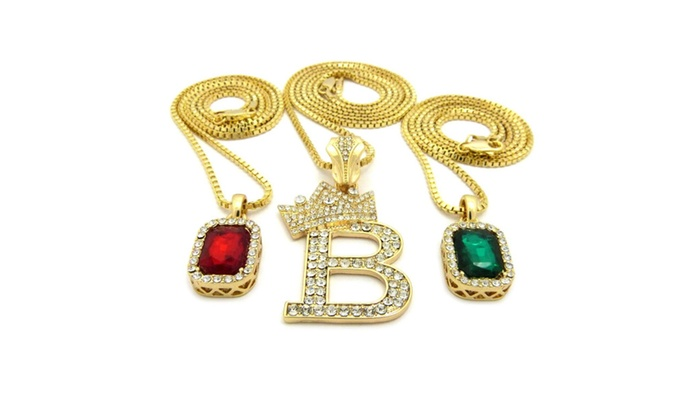 New green and red ruby stone with initial b pendant and chain new green and red ruby stone with initial b pendant and chain aloadofball Images