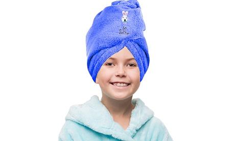 Kids' Fast-Drying Microfiber Hair Towels Turban 0296a2dc-e13d-4d99-83f3-adfcdf3bc081