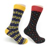 New Pairs Men's Colorful Polka Dot Style Purple and Black Dress Socks