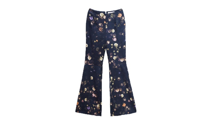 Women's Printed Fashion Casual High Rise Bell-bottoms