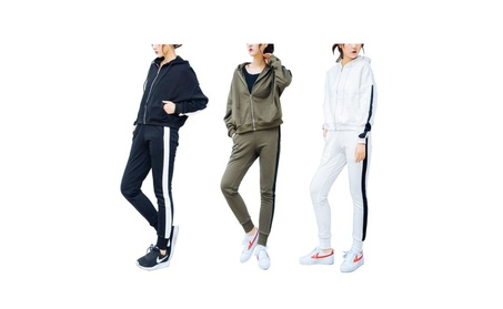 Women's Thickened Hooded Two-Piece Fitness Suit 0823d652-fa48-4870-8f99-2c205e99d9be