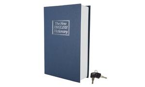 Small Dictionary Book Secret Safe Diversion w/ Lock