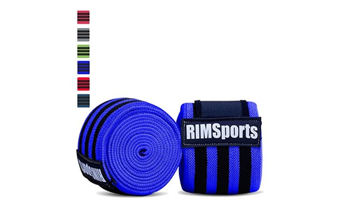Knee Wrap Compression & Support for Weightlifting & Powerlifting