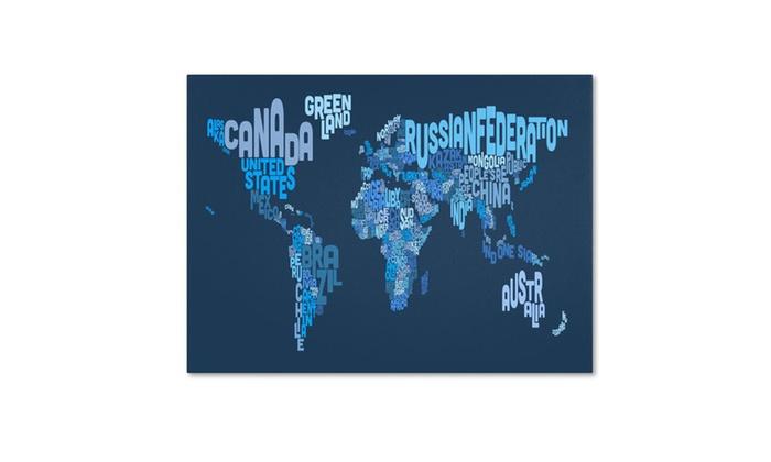 Michael tompsett world text map 2 canvas art groupon michael tompsett world text map 2 canvas art gumiabroncs Choice Image