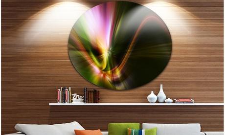 Rays of Speed Green' Abstract Circle Metal Wall Art 7cdaebde-d4d2-46a9-91b5-8cd50914837b