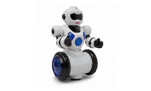 Dancing Mini Robot Bump & Go,Kids Action,360 Degree Spin,Colorful Ligh