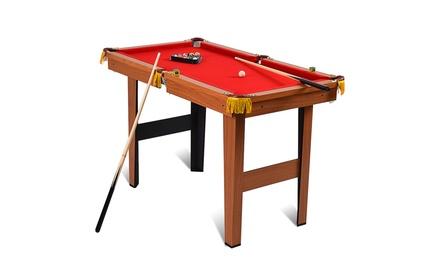 48'' Mini Table Top Pool Table Game Billiard Set Cues Balls Gift Indoor Sports