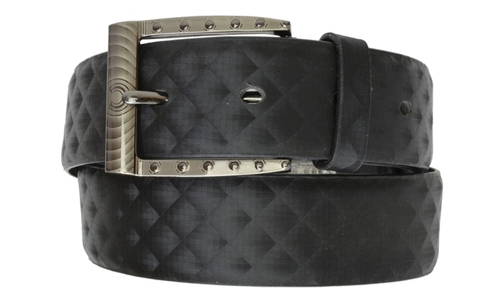 AFONiE Men's Genuine Leather Belt with Buckle