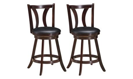 Costway Set of 2 Swivel Bar stool 24