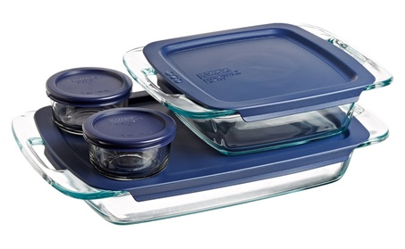 Pyrex Easy Grab 8-Piece Glass Bakeware and Food Storage Set a983f1ef-11a6-460a-bbe4-199c6f108daa