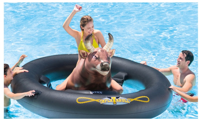 Intex Giant Inflatabull Bull Riding Inflatable Swimming
