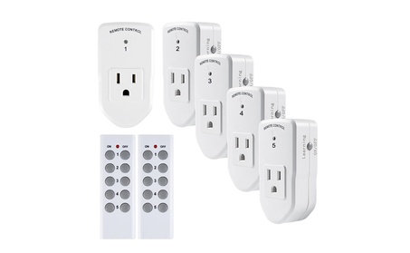 Century Wireless Remote Control Outlet Switch,5 Remote Socket+2 Remote photo