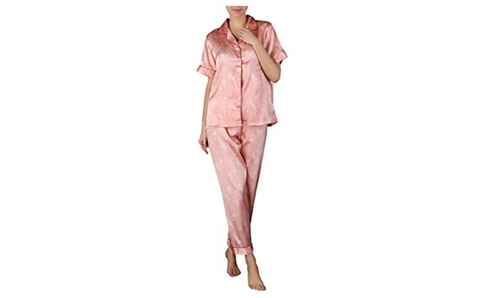 Women's Short-sleeved Pants Sleepwear Two-piece Comfortable Pajamas
