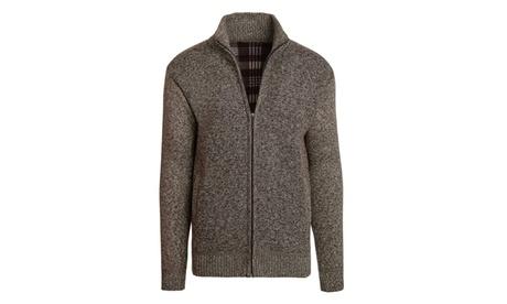Alta Men's Fleece Lined Casual Full-Zip Mock Neck Sweater 1b6462cb-1c5d-47d9-b748-92a90d227f61