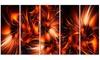Orange Startbusts Metal Wall Art 60x28 5 Panels