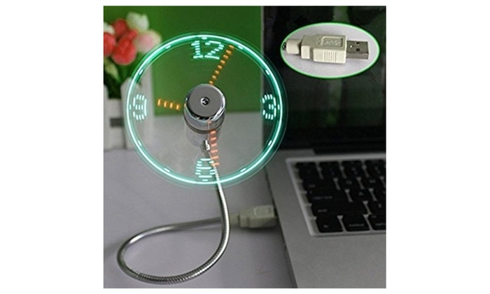 Mini Clock USB Fan