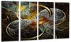Symmetrical Brown Fractal Flowers - Digital Art Metal Wall Art
