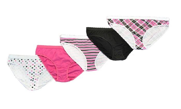 265c34a52de Women s 5pack 100% Cotton Hi-Cut Panties Fashion Underwear Plaid ...