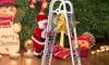 Electric Climbing Ladder Santa Claus Christmas Twerking Santa Claus Toy for Kids