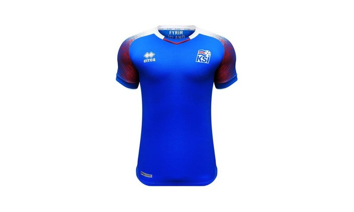 official photos 88b0f f6872 Errea Iceland 2018 Official Home Jersey