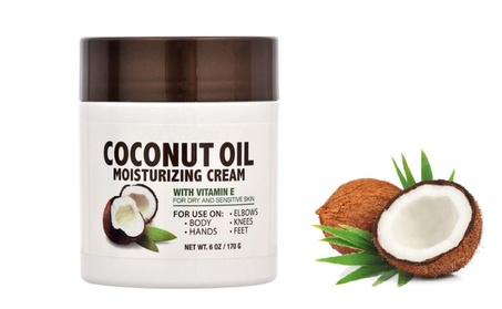 Coconut Oil Moisturizing Cream Vitamin E - for Dry & Sensitive Skin