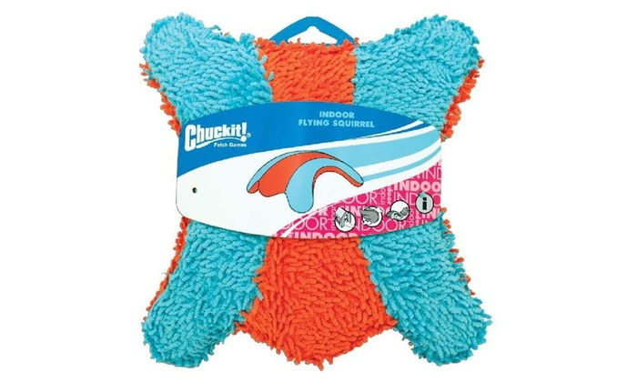 Chuckit 215201 Indoor Flying Sqirrel Dog Toy, Multicolored, Terrycloth
