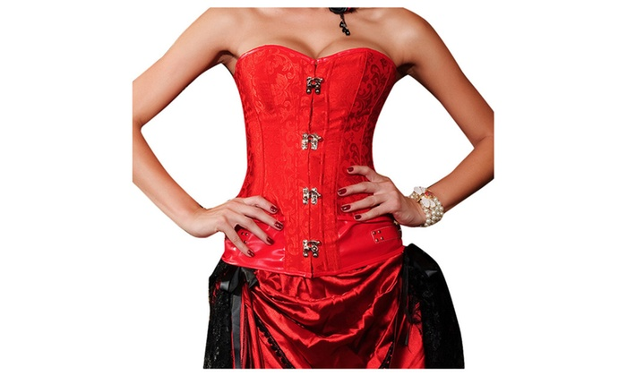 Women's Ribbed Hem Solid Casual Straight Across Blouse Corsets