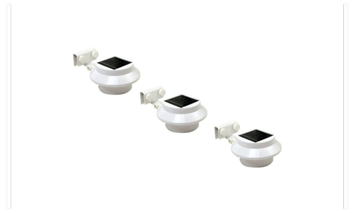 3 Packs Multi Purpose White Outdoor Solar LED Light