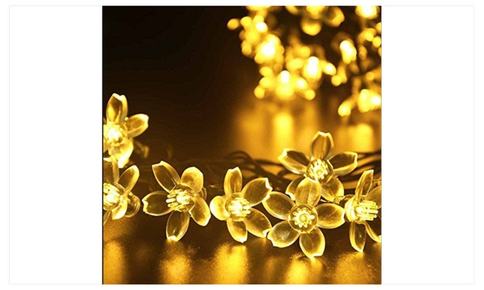 Wireless Solar LED Cherry Blossom Flower Garden String Lights