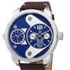 Joshua & Sons Men's Multifunction Leather Strap Watch JXGP107