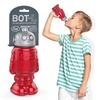 Fred Friends Red BOT L Robot Sports Water Bottle Drink Container