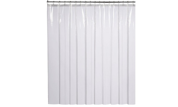 Mildew Resistant Shower Curtain Liner Clear