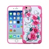 Insten Morning Petunias Hard Tpu Cover Case For Iphone 6 6s Pink White