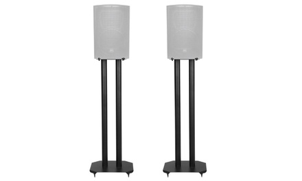 Speaker Stand Steel Construction MDF Shelves Spike Home Theater