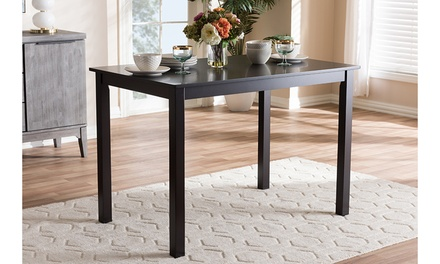 Augus Modern and Contemporary Dark Brown Finished Dining Table