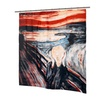Carnation Home Fashions  72 x 72 in. The Scream Fabric Shower Curtain